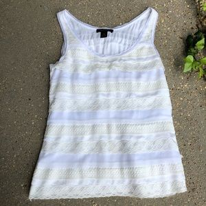 WHBM Tiered Lace Tank
